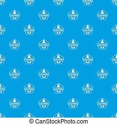 Cleaning bottle pattern seamless blue