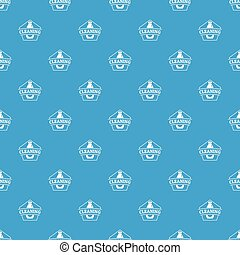 Cleaning bottle pattern vector seamless blue