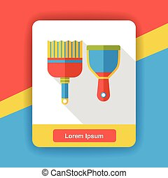 cleaning Broom flat icon