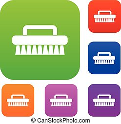 Cleaning brush set color collection - Cleaning brush set...