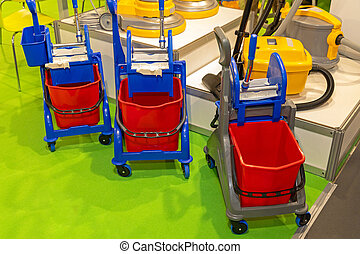 Cleaning Buckets Carts