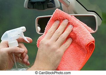 Cleaning car interior