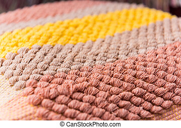cleaning doormat or carpet texture