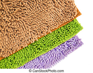 Cleaning feet doormat or carpet for clean your feet.