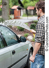 Cleaning first car