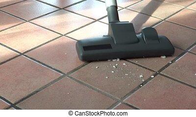 vacuum cleaner - Cleaning floor, vacuum cleaner close up