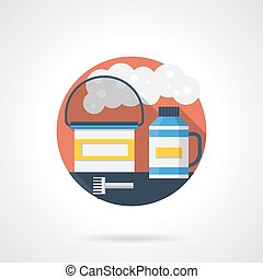 Cleaning hookah color detailed vector icon - Abstract...