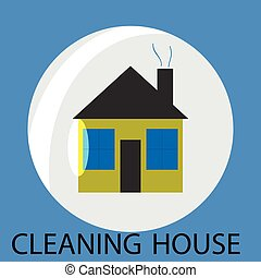 Cleaning house icon