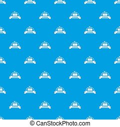 Cleaning house pattern seamless blue