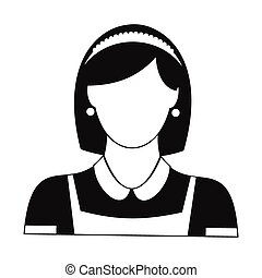 Cleaning household service maid black simple icon