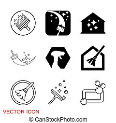 Cleaning icon. Industrial Cleaning Services Risky Cleaner