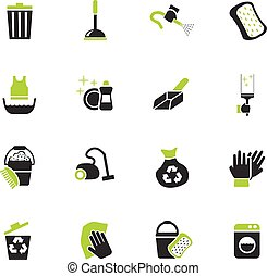cleaning icon set - cleaning web icons for user interface...