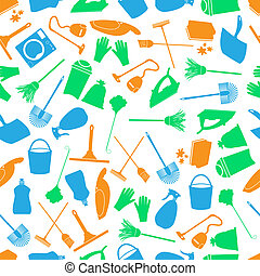 cleaning icons color seamless pattern eps10