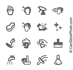 Cleaning Icons - Simple set of cleaning related vector icons...