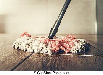 Cleaning Mop Closeup