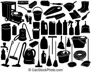 Cleaning Objects  - Cleaning objects isolated on white