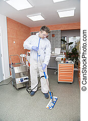 Cleaning of dental office
