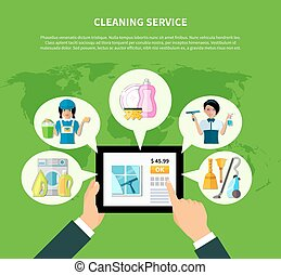 Cleaning Online Application Concept