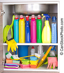 Cleaning product storage space