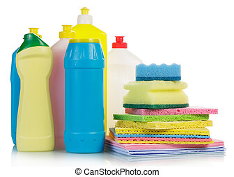 Cleaning products ib white