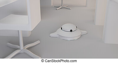 cleaning robot 3d-illustration