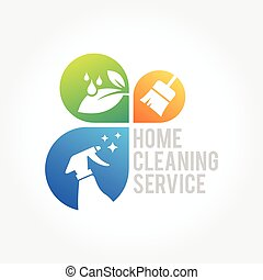 Cleaning Service Business logo design, Eco Friendly Concept...