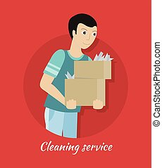 Cleaning Service Concept Vector in Flat Design