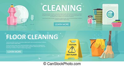 Cleaning Service Horizontal Banners - Cleaning service...