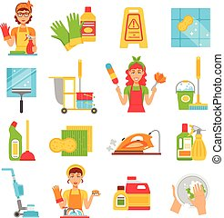 Cleaning Service Icon Set
