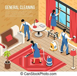 Cleaning Service Isometric