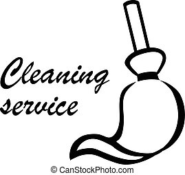 Cleaning Service logo vector illustration isolated on white