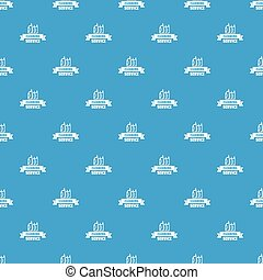 Cleaning service pattern vector seamless blue