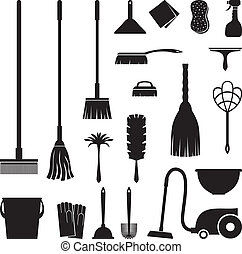 Cleaning set - A set of equipment for house cleaning