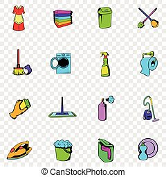 Cleaning set icons