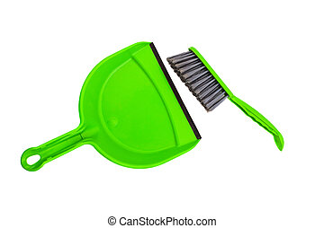 cleaning set isolated on white background