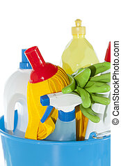 Cleaning set - Set of cleaning fluids and disinfectants to ...