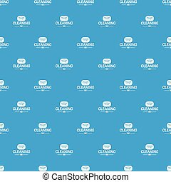 Cleaning soap pattern vector seamless blue