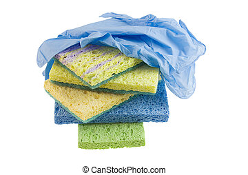cleaning sponge stack