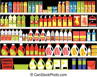Cleaning supplies - Household supplies aisle in the...