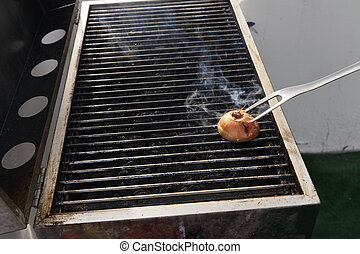Cleaning the Grill - Getting the grill ready for some...