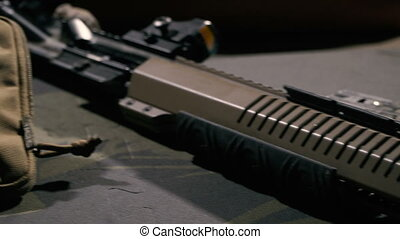 Cleaning the weapon. Cleaning a semi-automatic rifle