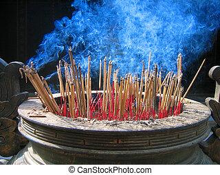 Cleanse me - burning joss sticks