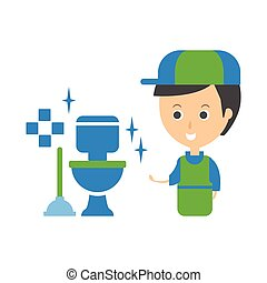 Sparkling Clean Toilet Illustration A Pristine New Toilet