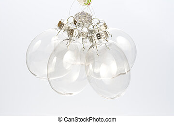 Clear Ball orniments for a Christmas tree