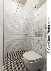 Clear bathroom design for those who love minimalism - Modern...
