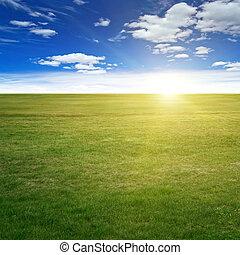 Clear beauty landscape. Summer background
