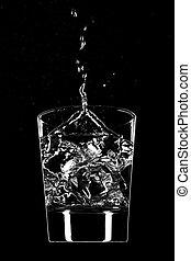 Clear beverage splash