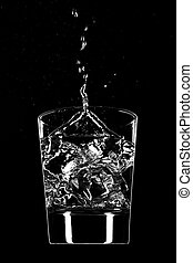 Clear beverage splash