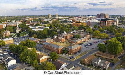 Clear Biright Late Summer Day Aerial View Lexington Kentucky...