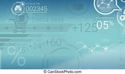 Clear Blue Corporate Background With Abstract Elements Of Infographics